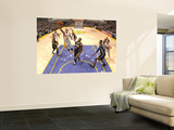 Indiana Pacers v Los Angeles Lakers: Matt Barnes and James Posey Vægplakat af Andrew Bernstein
