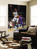 Detroit Pistons v New Orleans Hornets: Trevor Ariza and Ben Wallace Wall Mural by Layne Murdoch