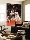 Indiana Pacers v Chicago Bulls: Ronnie Brewer, Carlos Boozer and Roy Hibbert Wall Mural by Ray Amati
