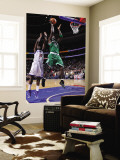 Boston Celtics v Philadelphia 76ers: Kevin Garnett and Jrue Holiday Wall Mural by David Dow