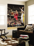 Chicago Bulls v Indiana Pacers - Game Three, Indianapolis, IN - APRIL 21: Derrick Rose and Danny Gr Wall Mural by Ron Hoskins