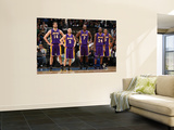 Los Angeles Lakers v Minnesota Timberwolves: Pau Gasol, Steve Blake, Lamar Odom and Kobe Bryant Wall Mural by David Sherman