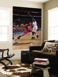 New Jersey Nets v Philadelphia 76ers: Devin Harris and Jrue Holiday Wall Mural by David Dow