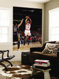Indiana Pacers v Chicago Bulls - Game Two, Chicago, IL- April 18: Derrick Rose and Danny Granger Wall Mural