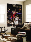 Philadelphia 76ers v Cleveland Cavaliers: Thaddeus Young and Antawn Jamison Wall Mural by David Liam Kyle