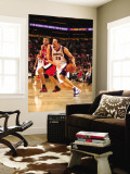 Portland Trail Blazers v Phoenix Suns: Hedo Turkoglu and Nicolas Batum Wall Mural by Barry Gossage