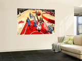 Oklahoma City Thunder v Chicago Bulls: Keith Bogans, Nenad Krstic, Kevin Durant and Eric Maynor Wall Mural by Joe Murphy
