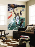 Denver Nuggets v Utah Jazz, Salt Lake City, UT - March 3: Paul Millsap and Nene Wall Mural by Melissa Majchrzak