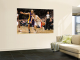 Los Angeles Lakers v Toronto Raptors: Jose Calderon and Derek Fisher Wall Mural by Ron Turenne