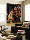 San Antonio Spurs v Golden State Warriors: Tim Duncan and David Lee Wall Mural by Jed Jacobsohn