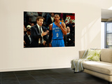 Oklahoma City Thunder v New Orleans Hornets: Scott Brooks and Russell Westbrook Wall Mural by Chris Unknown