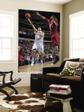 New Jersey Nets v Dallas Mavericks: Dirk Nowitzki and Brook Lopez Wall Mural by Glenn James