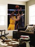 Washington Wizards v Los Angeles Lakers: Kobe Bryant and Yi Jianlian Wall Mural by  Jeff