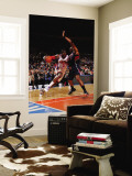 Atlanta Hawks v New York Knicks: Al Horford and Amar'e Stoudemire Wall Mural by Jeyhoun Allebaugh
