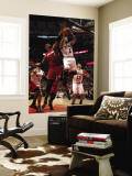 Miami Heat v Chicago Bulls - Game Two, Chicago, IL - MAY 18: Derrick Rose and Chris Bosh Wall Mural by Jonathan Daniel
