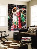 Boston Celtics v New Jersey Nets: Kris Humphries and Marquis Daniels Wall Mural by Jeyhoun Allebaugh