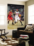 Toronto Raptors v Detroit Pistons: Richard Hamilton and DeMar DeRozan Wall Mural by Allen Einstein