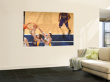 Los Angeles Lakers v Indiana Pacers: Pau Gasol and Jeff Foster Wall Mural by Ron Hoskins