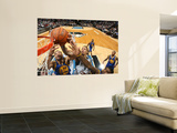 Golden State Warriors v Minnesota Timberwolves: Michael Beasley and Dan Gadzuric Wall Mural by David Sherman