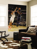 Denver Nuggets v Charlotte Bobcats: Carmelo Anthony and Boris Diaw Wall Mural by Kent Smith