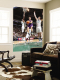 Sacramento Kings v Utah Jazz: Beno Udrih, C.J. Miles and Kyrylo Fesenko Wall Mural by Melissa Majchrzak