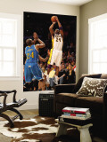 New Orleans Hornets v Los Angeles Lakers - Game One, Los Angeles, CA - April 17: Kobe Bryant and Ca Wall Mural