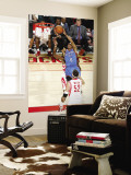 Oklahoma City Thunder v Houston Rockets: Russell Westbrook and Brad Miller Wall Mural by Bill Baptist