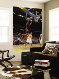 Miami Heat v Golden State Warriors: Lebron James and Dan Gadzuric Wall Mural by Rocky Widner