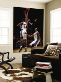 Miami Heat v Washington Wizards: Dwyane Wade and Hilton Armstrong Wall Mural by Ned Dishman