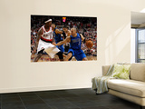 Dallas Mavericks v Portland Trail Blazers - Game Four, Portland, OR - APRIL 23: Jason Kidd and Gera Wall Mural by Jonathan Ferrey