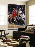 Los Angeles Clippers v Minnesota Timberwolves: Jarron Collins and Kevin Love Wall Mural by David Sherman
