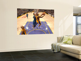 Washington Wizards v Los Angeles Lakers: Kobe Bryant and Yi Jianlian Wall Mural by Andrew Bernstein