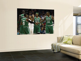 Boston Celtics v Charlotte Bobcats: Paul Pierce, Rajon Rondo and Glen Davis Wall Mural by  Streeter