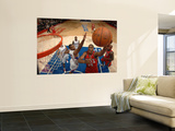 New Jersey Nets v Los Angeles Clippers: Derrick Favors and Jarron Collins Wall Mural by Noah Graham