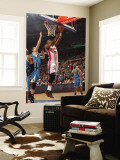 New Orleans Hornets v Detroit Pistons: Greg Monroe and Jason Smith Wall Mural by Allen Einstein