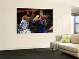 New York Knicks v Denver Nuggets: Timofey Mozgov and Nene Wall Mural by Doug Pensinger