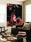 New Jersey Nets v Toronto Raptors: Linas Kleiza and Johan Petro Wall Mural by Ron Turenne