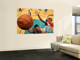 Tulsa 66ers v Sioux Falls Skyforce: Byron Mullens and Raymond Sykes Wall Mural by Dave Eggen