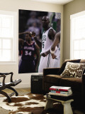 Atlanta Hawks v Boston Celtics: Kevin Garnett and Jason Collins Wall Mural by Elsa Unknown