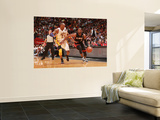 Los Angeles Lakers v Miami Heat, Miami, FL - March 10: Dwyane Wade and Kobe Bryant Wall Mural by Victor Baldizon