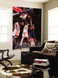 Atlanta Hawks v New York Knicks: Al Horford, Anthony Randolph and Timofey Mozgov Wall Mural by Jeyhoun Allebaugh