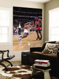 New Jersey Nets v Philadelphia 76ers: Thaddeus Young and Kris Humphries Wall Mural by David Dow