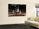 Boston Celtics v Cleveland Cavaliers: Joey Graham and Kevin Garnett Wall Mural by David Liam Kyle