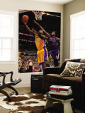 Sacramento Kings v Los Angeles Lakers: Derrick Caracter and Samuel Dalembert Wall Mural by Noah Graham