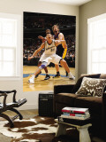Los Angeles Lakers v Washington Wizards: Yi Jianlian and Pau Gasol Wall Mural by Andrew Bernstein