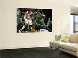 Boston Celtics v Charlotte Bobcats: Glen Davis and Shaun Livingston Wall Mural by  Streeter