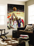 Los Angeles Lakers v Houston Rockets: Kobe Bryant and Shane Battier Wall Mural by Bill Baptist