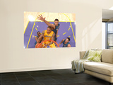Washington Wizards v Los Angeles Lakers: Shannon Brown, Gilbert Arenas, JaVale McGee and Kirk Hinri Wall Mural by Andrew Bernstein