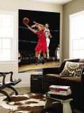 Toronto Raptors v Washington Wizards: Jose Calderon and Kirk Hinrich Wall Mural by Ned Dishman