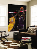 Sacramento Kings v Los Angeles Lakers: DeMarcus Cousins and Derrick Caracter Wall Mural by Jeff Gross